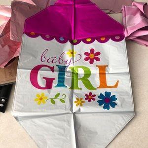 35 baby girl shower balloons